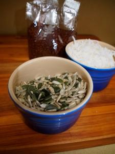Pepitas, sunflower seeds, coconut and quinoa