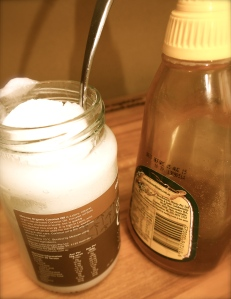 The good oil...coconut oil and honey