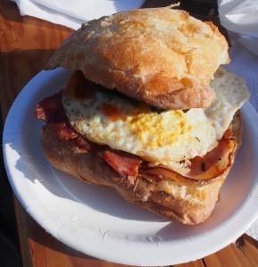 Barossa Farmers' Market bacon roll